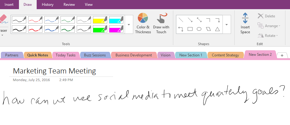 how to use ink to text in onenote